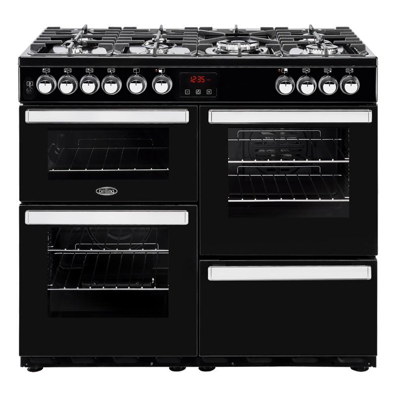 Belling Cookcentre 100DFT Black Range Cooker