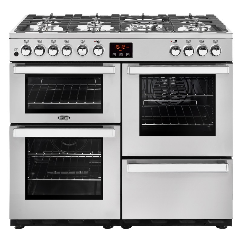 Belling Cookcentre 100DFT 100cm Professional Steel Range Cooker