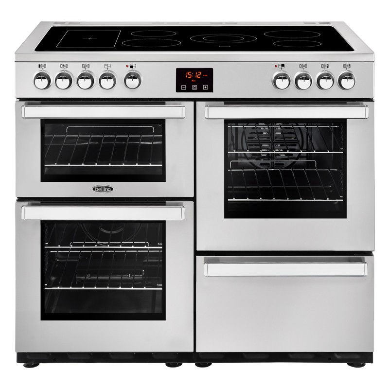 Belling Cookcentre 100E 100cm Professional Steel Range Cooker