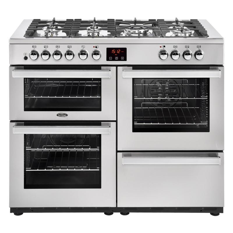 Belling Cookcentre 110DFT 110cm Professional Steel Range Cooker