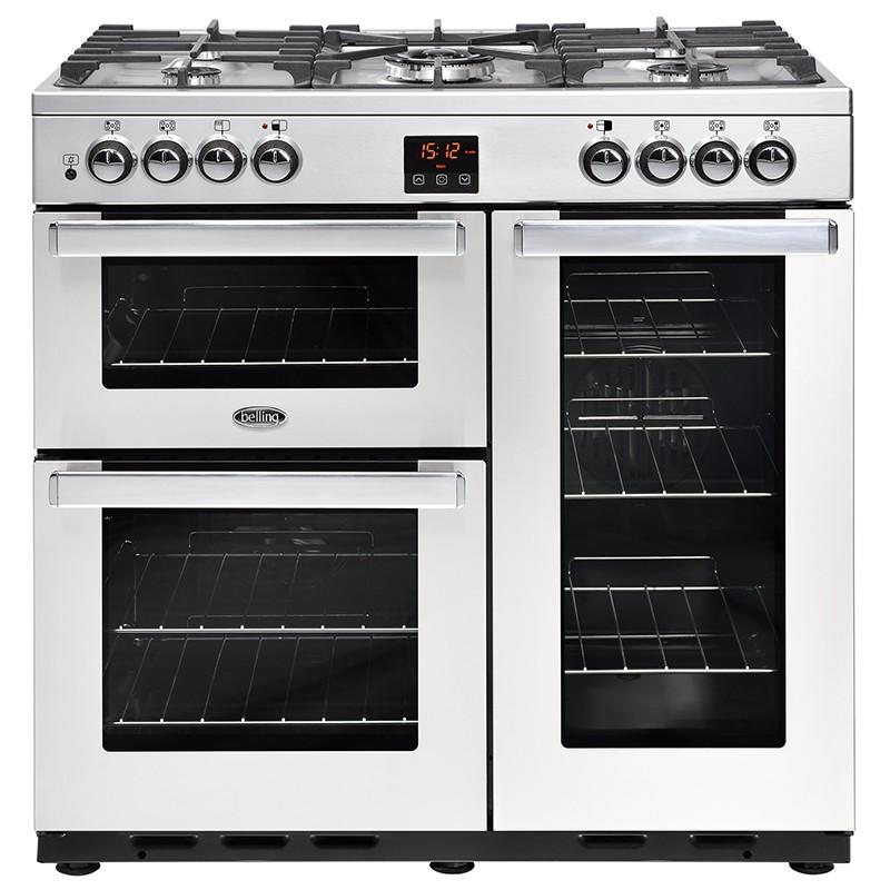 Belling Cookcentre 90DFT 90cm Professional Steel Range Cooker