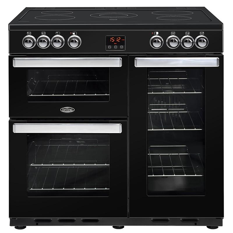 Belling Cookcentre 90E 90cm Black Range Cooker