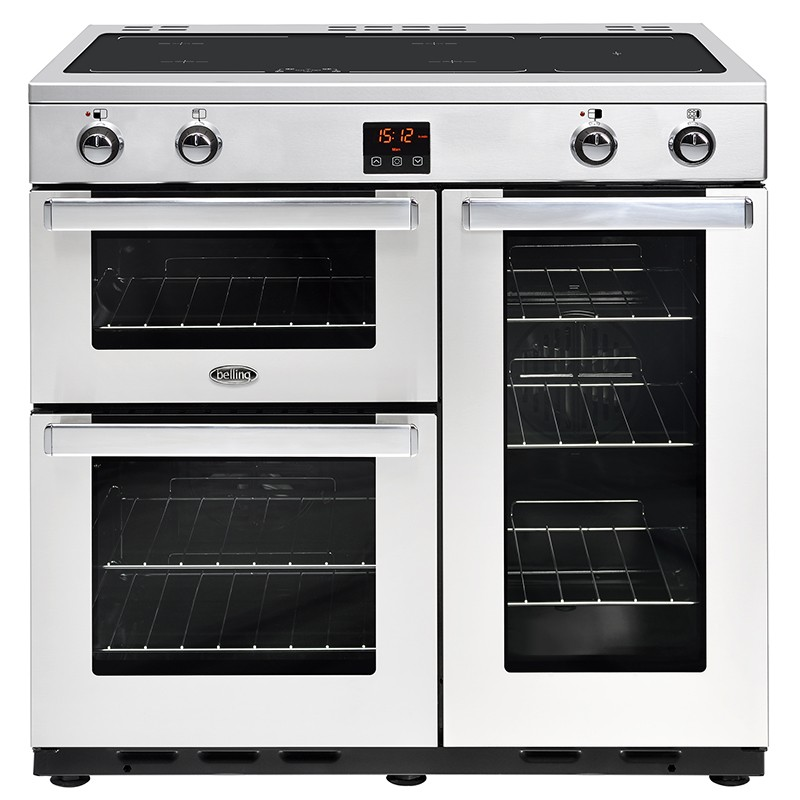 Belling Cookcentre 90EI 90cm Professional Steel Range Cooker
