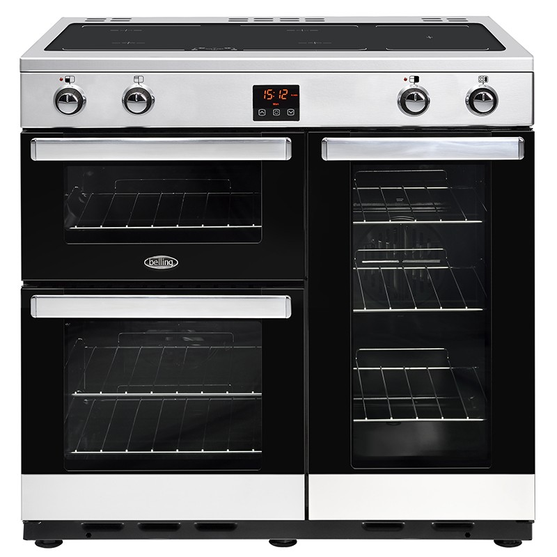 Belling Cookcentre 90EI 90cm Steel Range Cooker
