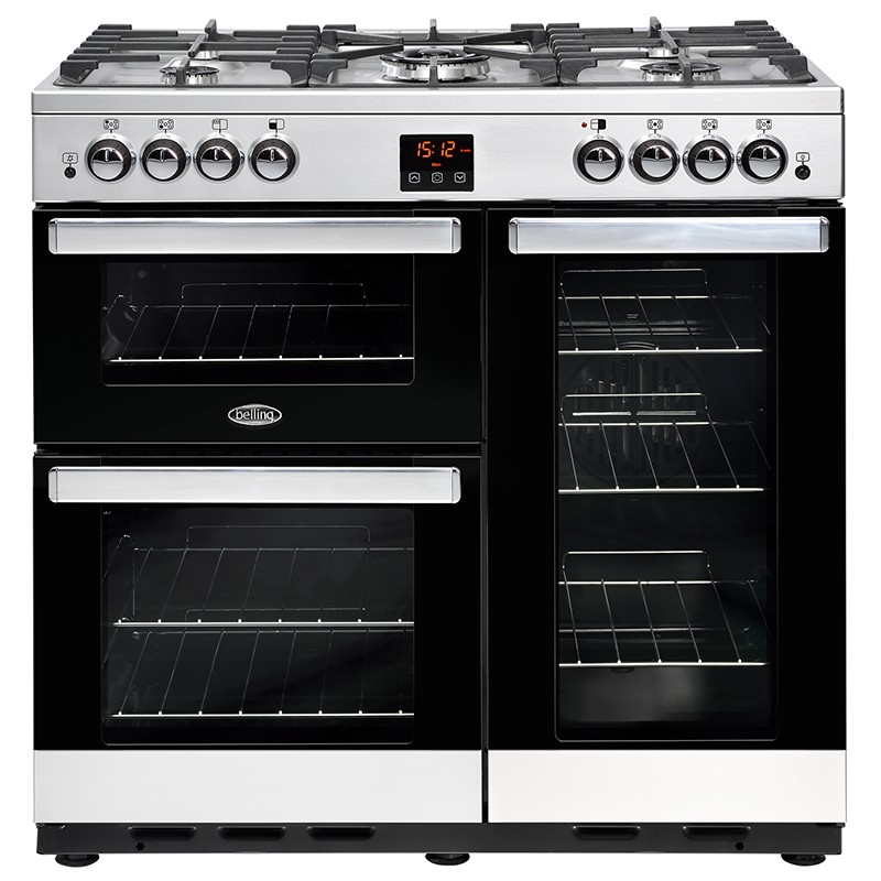Belling Cookcentre 90G 90cm Steel Range Cooker