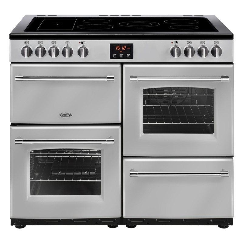 Belling Farmhouse 100E 100cm Silver Range Cooker