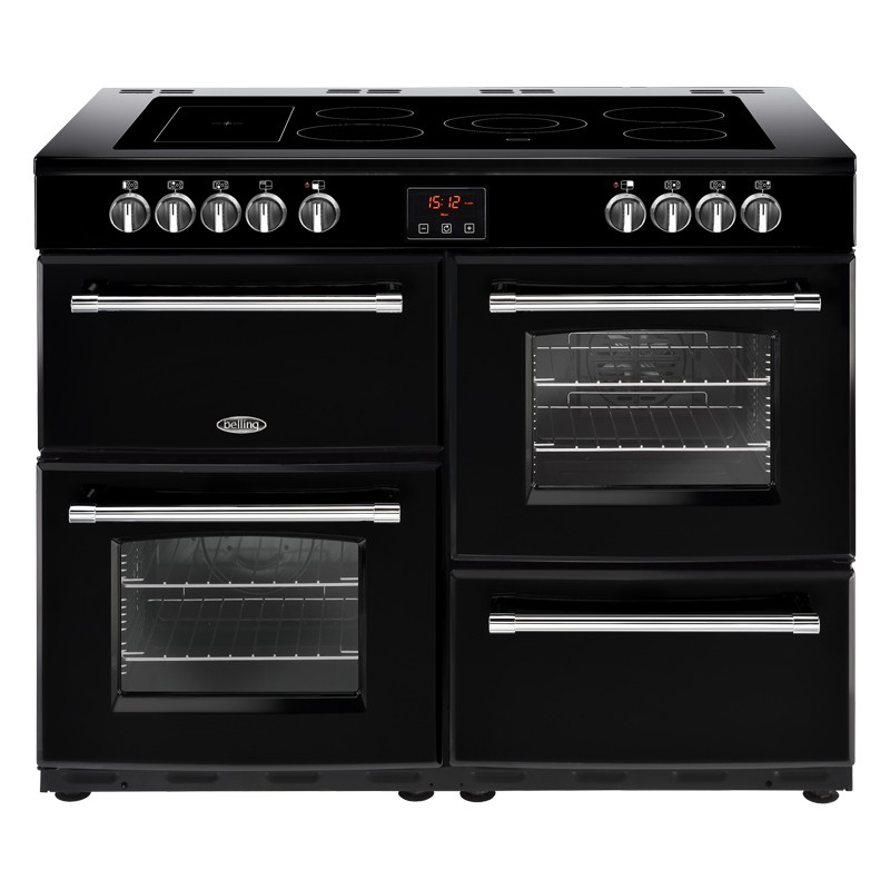 Belling Farmhouse 110E 110cm Black Range Cooker