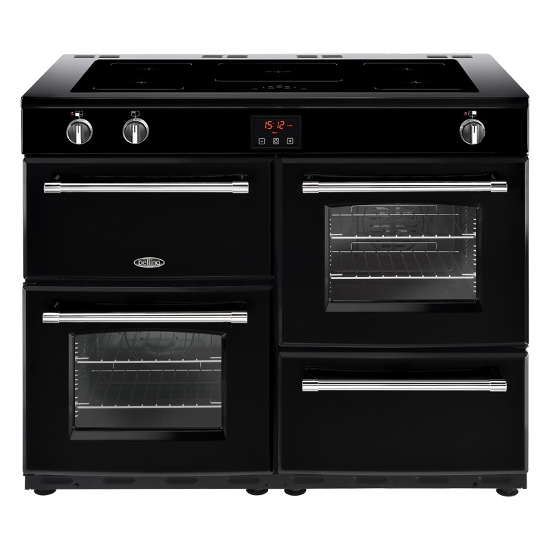 Belling Farmhouse 110EI 110cm Black Range Cooker