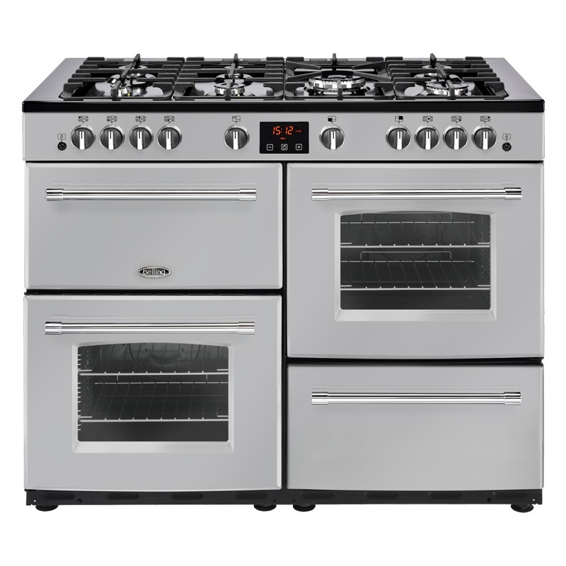 Belling Farmhouse 110G 110cm Silver Range Cooker