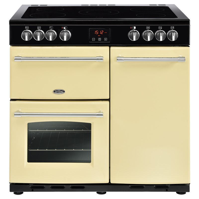Belling Farmhouse 90E 90cm Cream Range Cooker