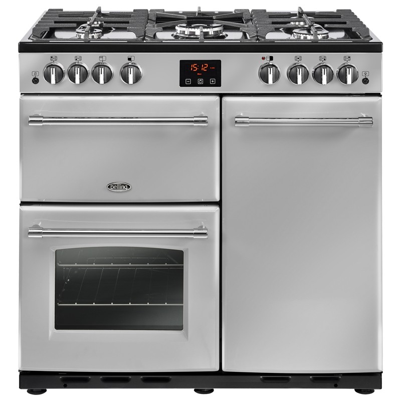 Belling Farmhouse 90G 90cm Silver Range Cooker