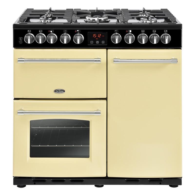 Belling Farmhouse Deluxe 90DFT 90cm Cream Range Cooker