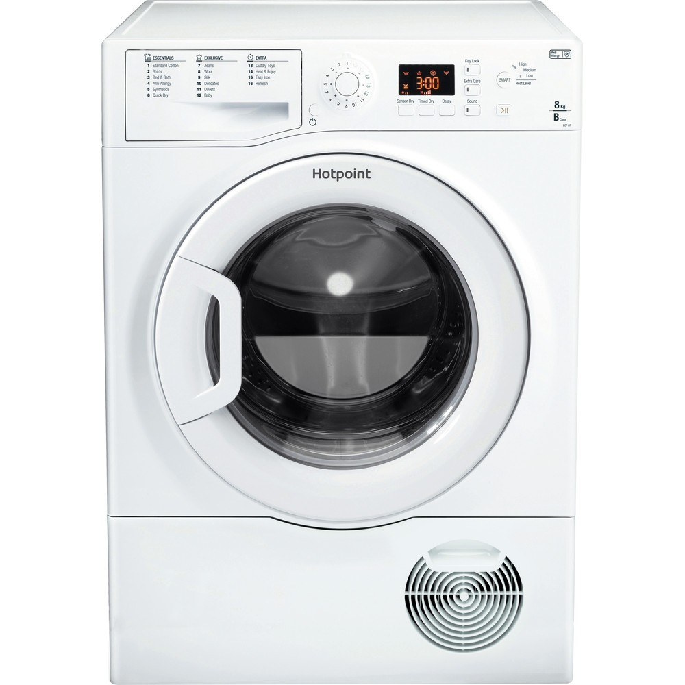 Hotpoint ECF87BP 8kg Tumble Dryer made in UK