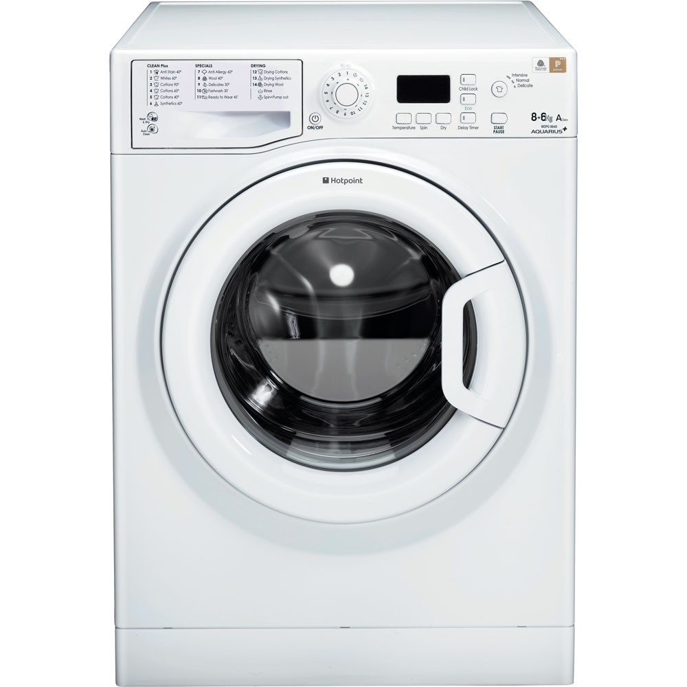 Hotpoint WDPG8640P 8kg/6kg 1400rpm Washer-Dryer