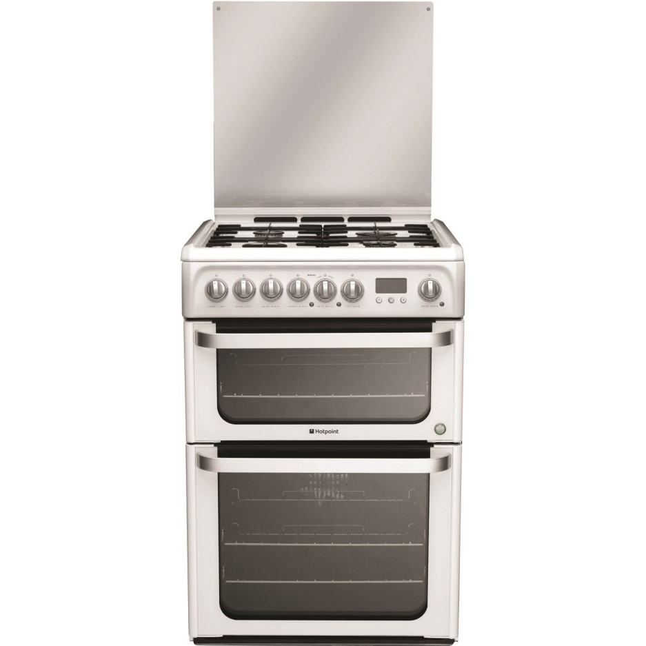 Hotpoint HUD61P Dual Fuel Cooker