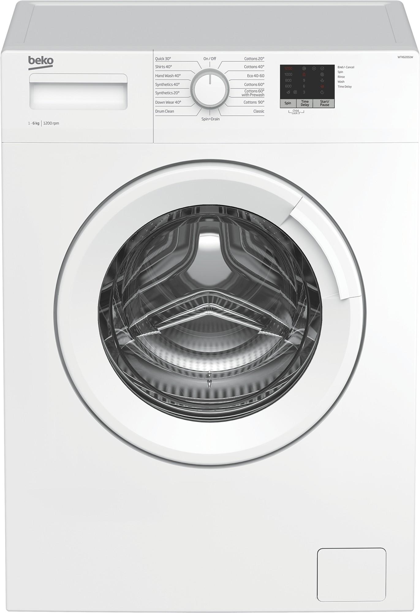 Beko WTK62051W 6kg 1200rpm Washing Machine