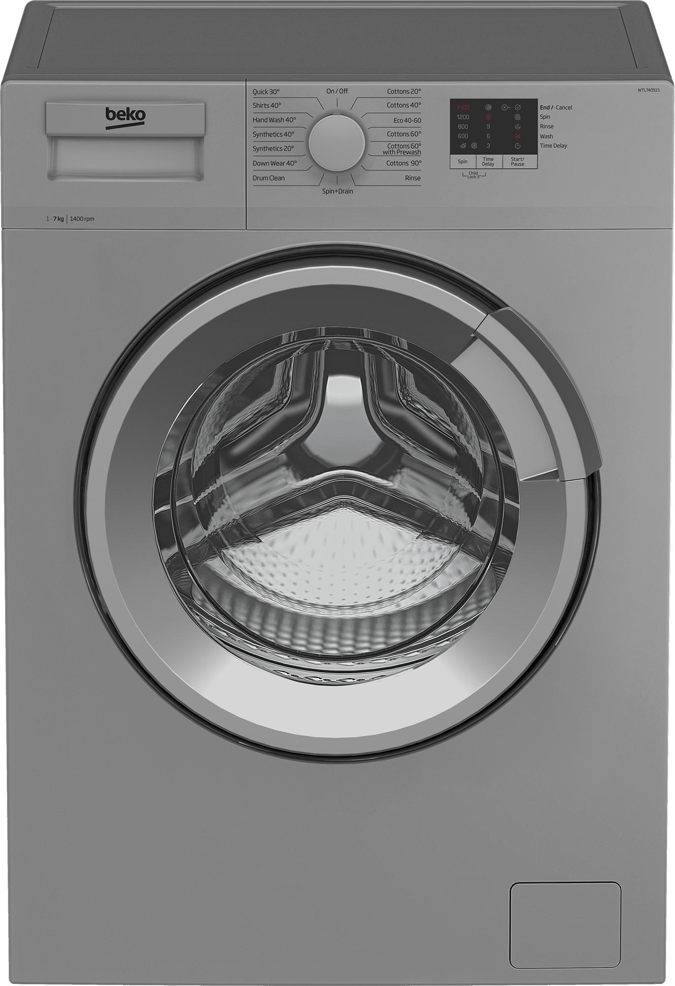 Beko WTL74051S 7kg 1400rpm Washing Machine