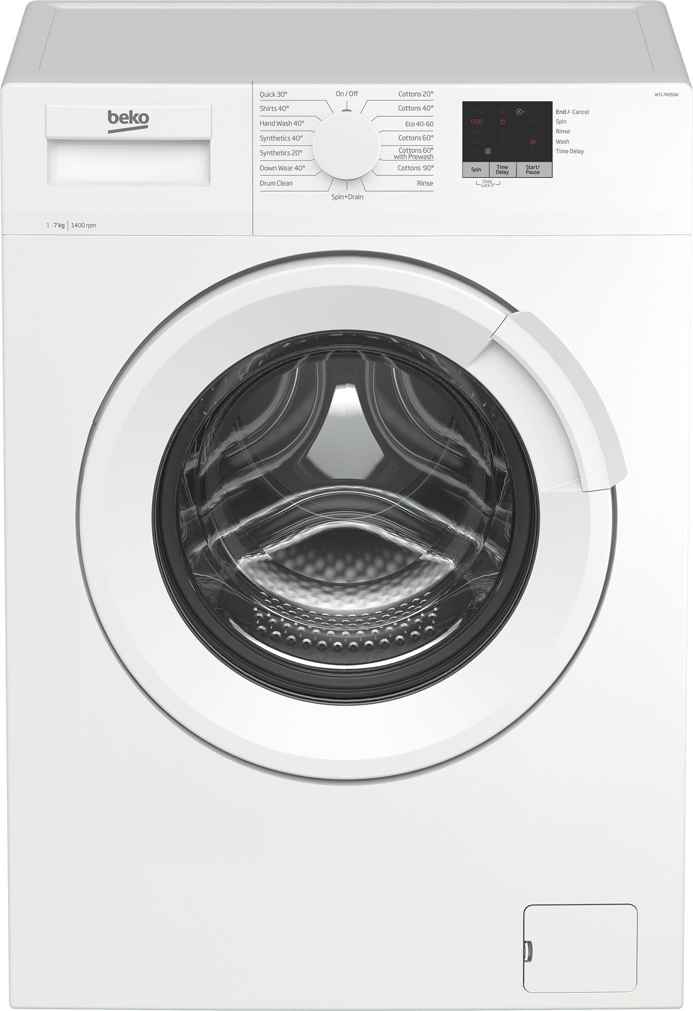 Beko WTL74051W 7kg 1400rpm Washing Machine