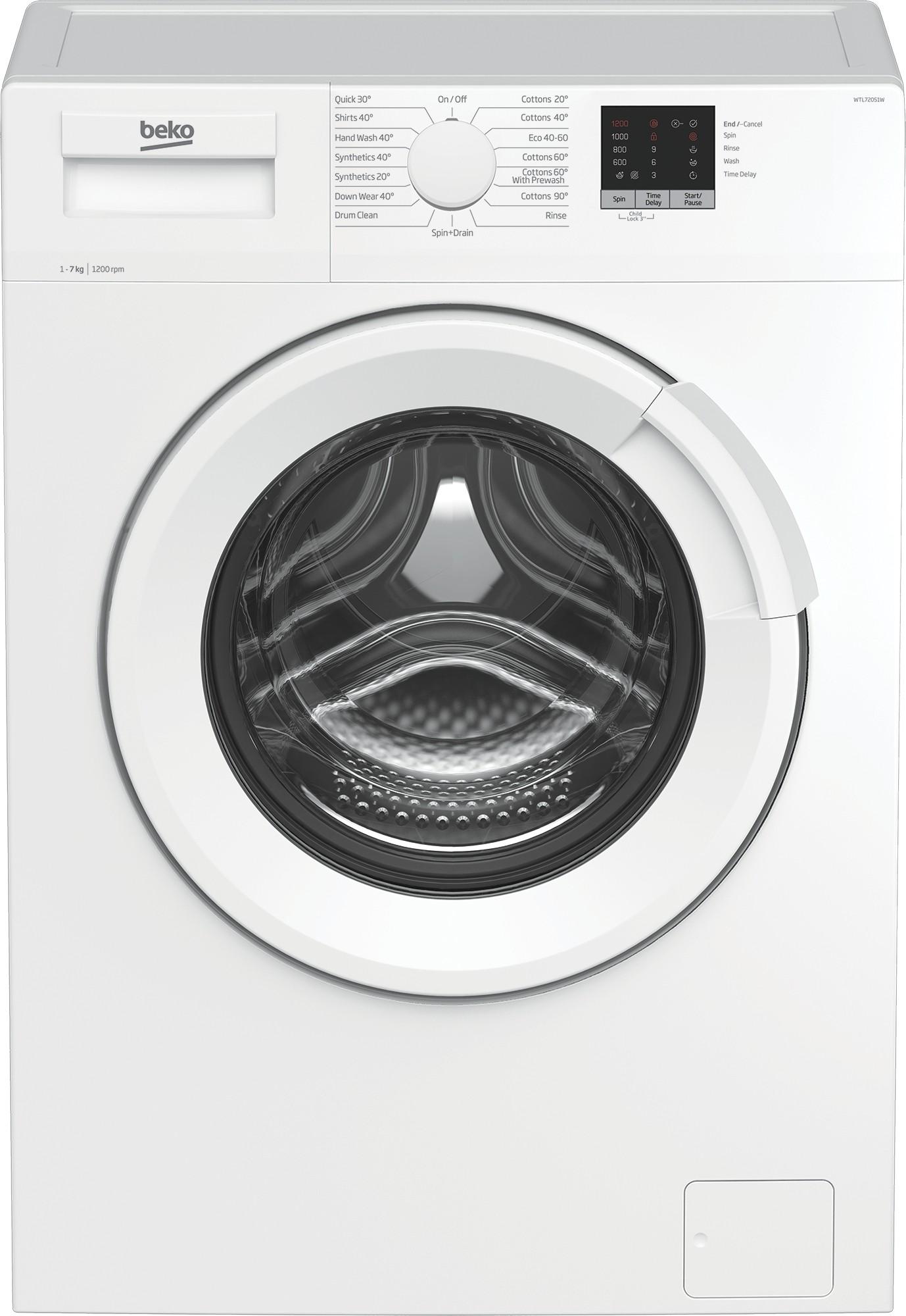 Beko WTL72051W 7kg 1200rpm Washing Machine