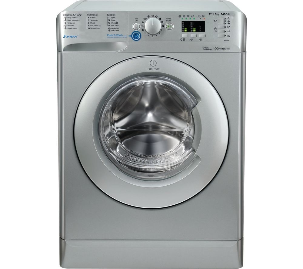 Indesit BWA81483XS 8kg 1400rpm Washing Machine