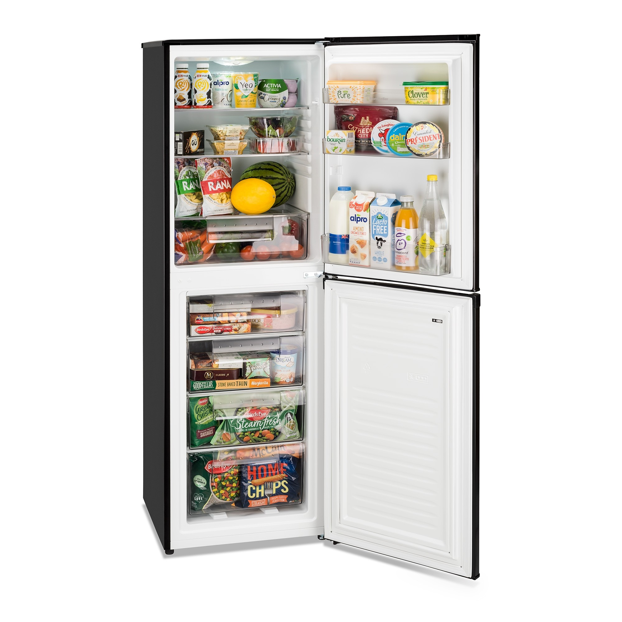 Montpellier MS175BK Fridge Freezer