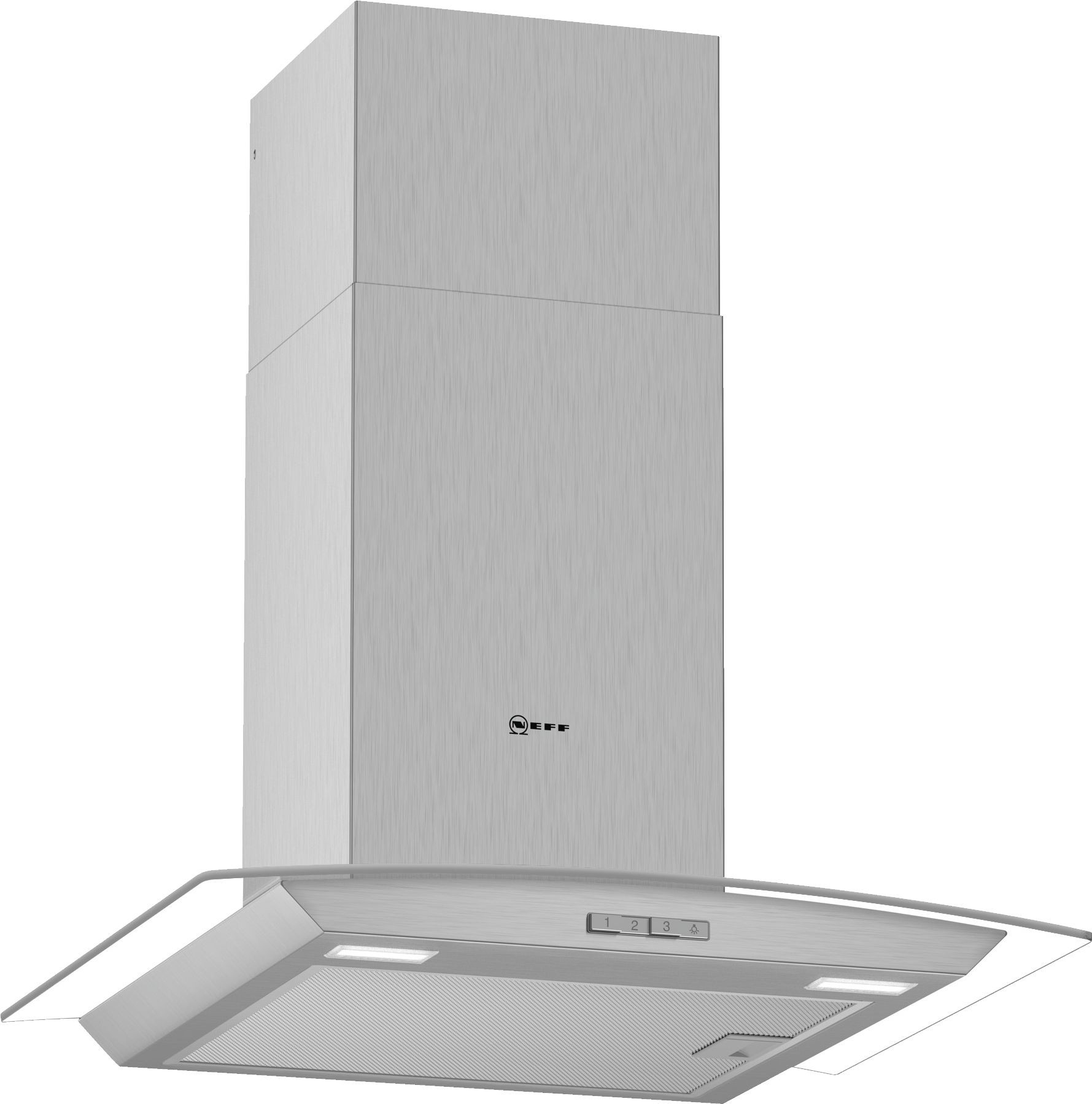 NEFF D64ABC0N0B Chimney Hood with Glass