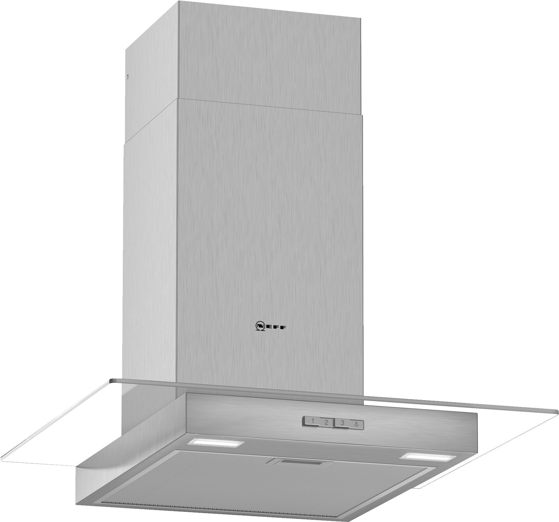 NEFF D64GBC0N0B Chimney Hood with Glass