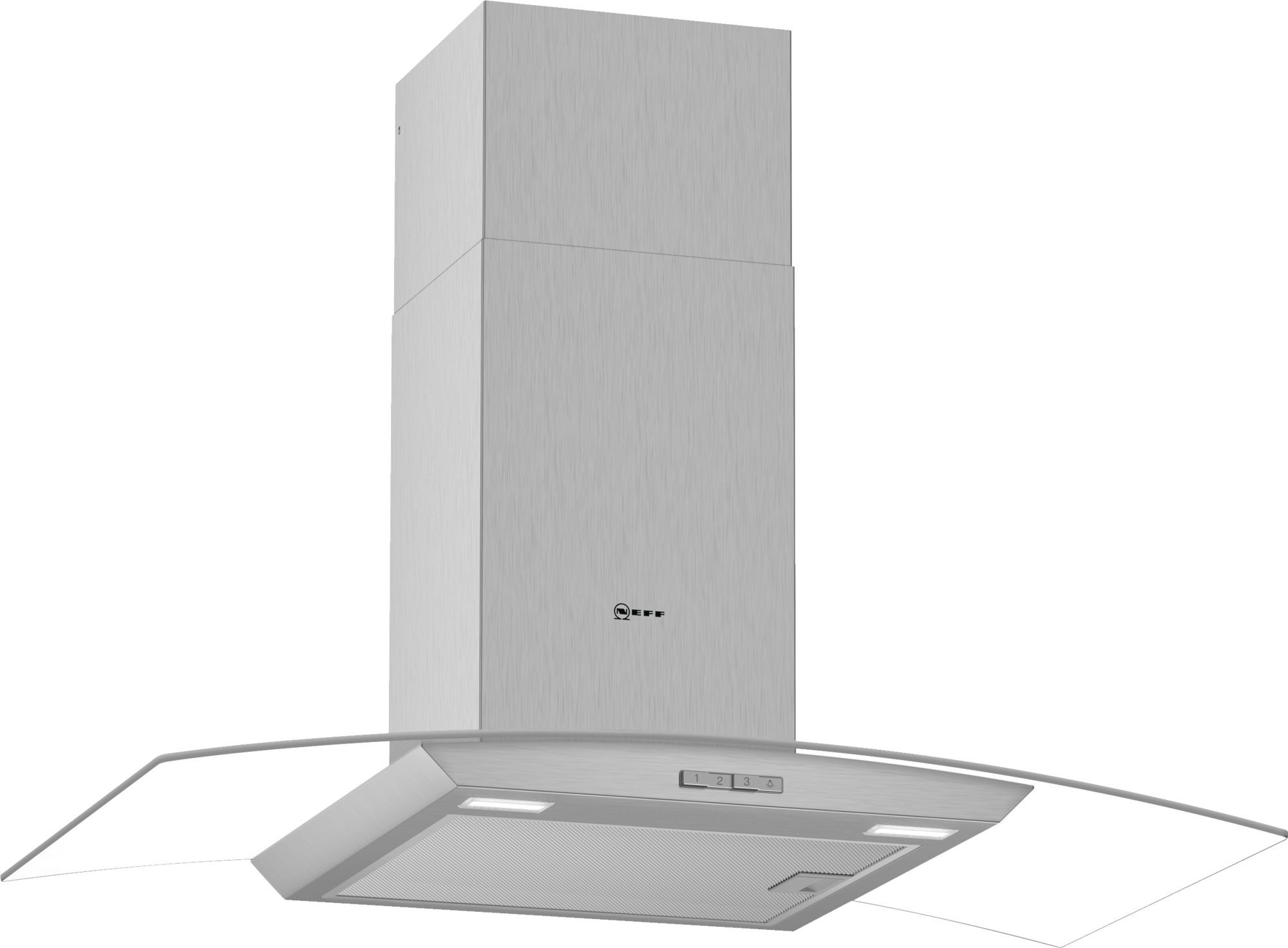 NEFF D94ABC0N0B Chimney Hood with Glass
