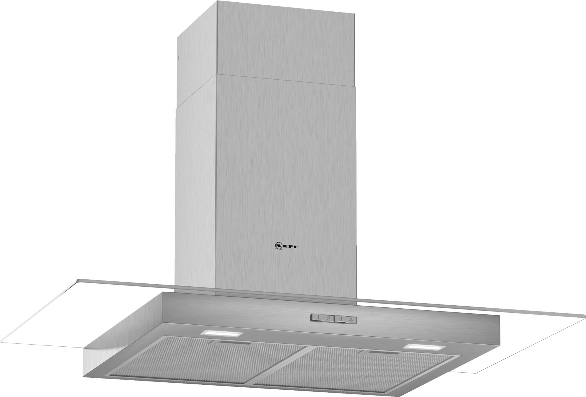 NEFF D94GBC0N0B Chimney Hood with Glass