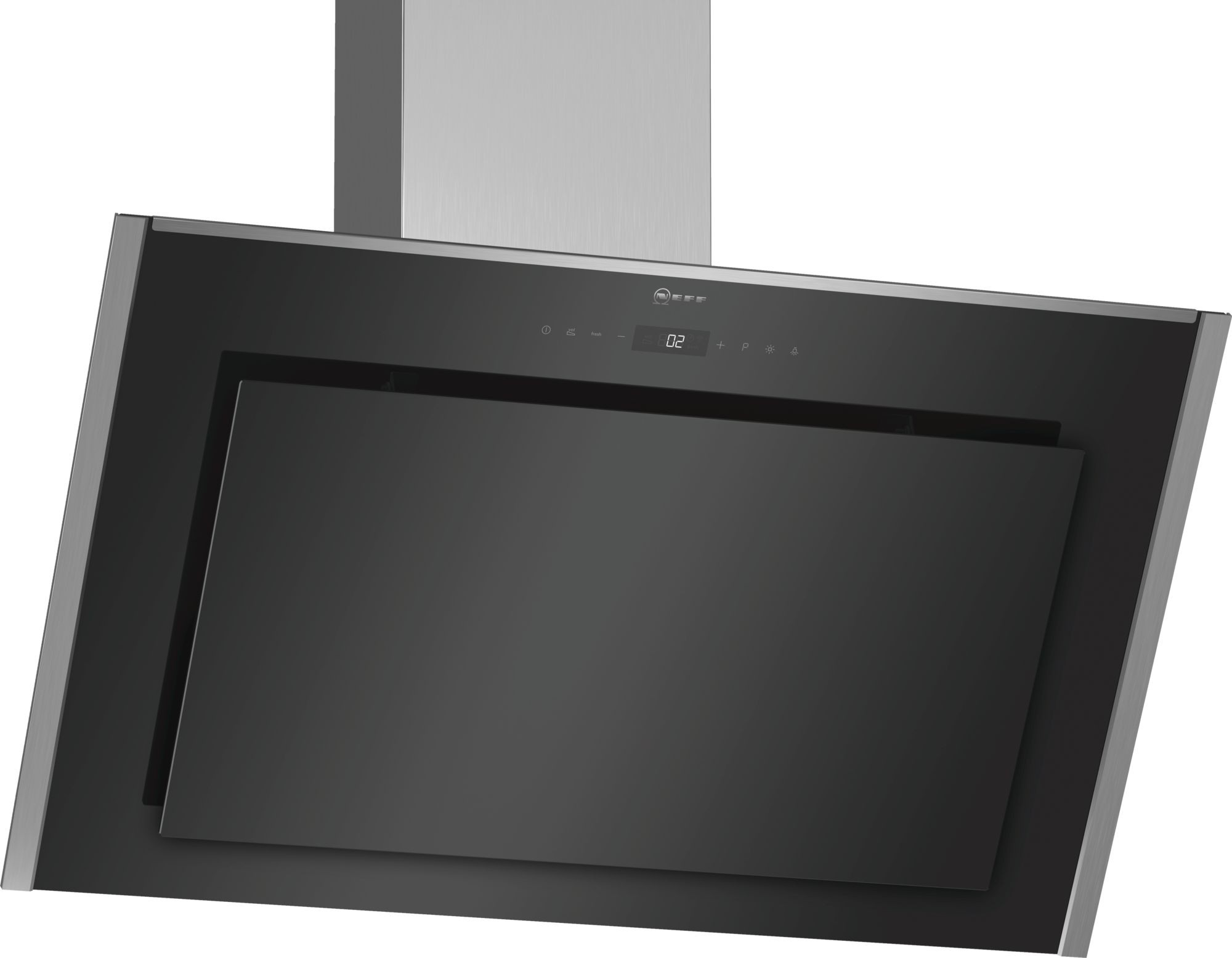 NEFF D95IMT1N0B Chimney Hood with Glass