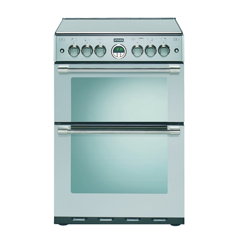 Stoves Sterling 600DF 60cm Dual Fuel Range Cooker Stainless Steel