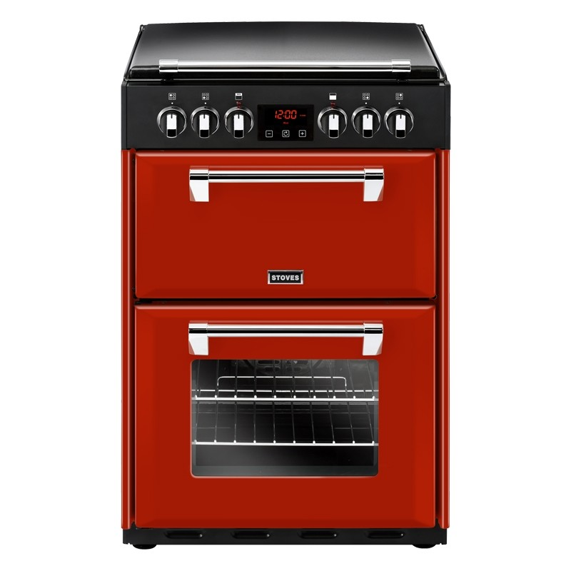 Stoves Richmond 600E 60cm Ceramic Range Cooker Red