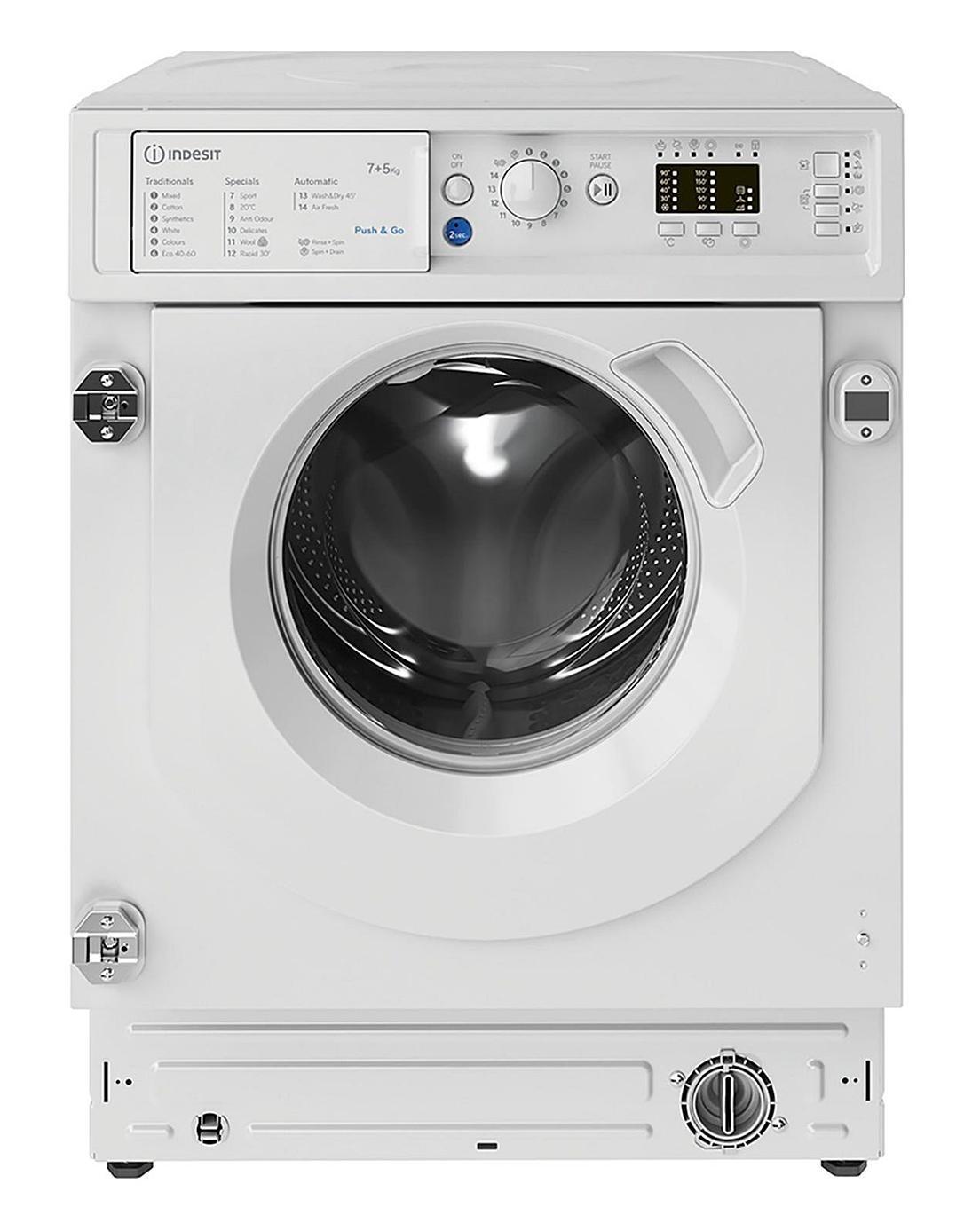 Indesit BIWDIL75125UKN 7kg/5kg 1200rpm Washer-Dryer