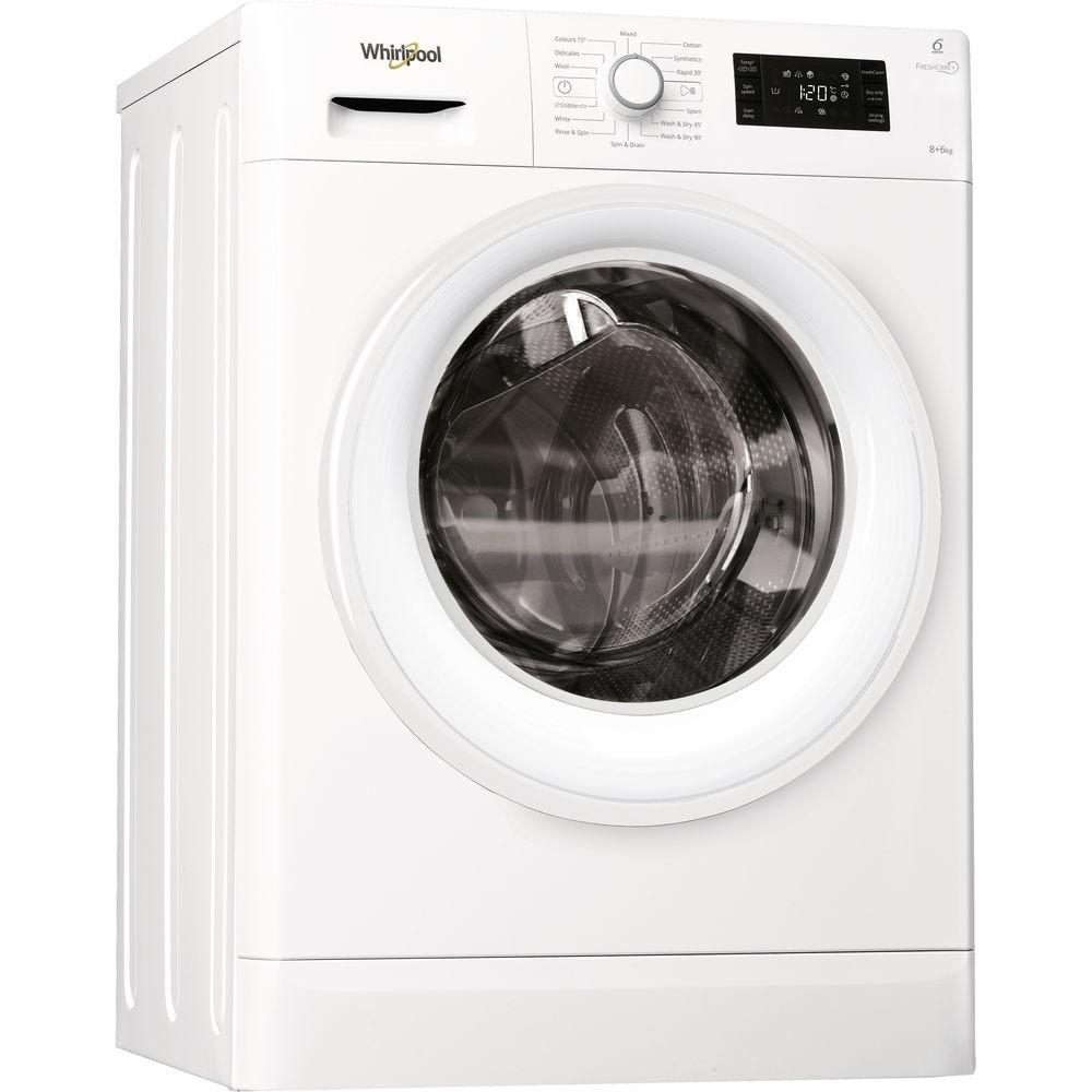 Whirlpool FWDG86148W 8kg/6kg 1400rpm Washer-Dryer