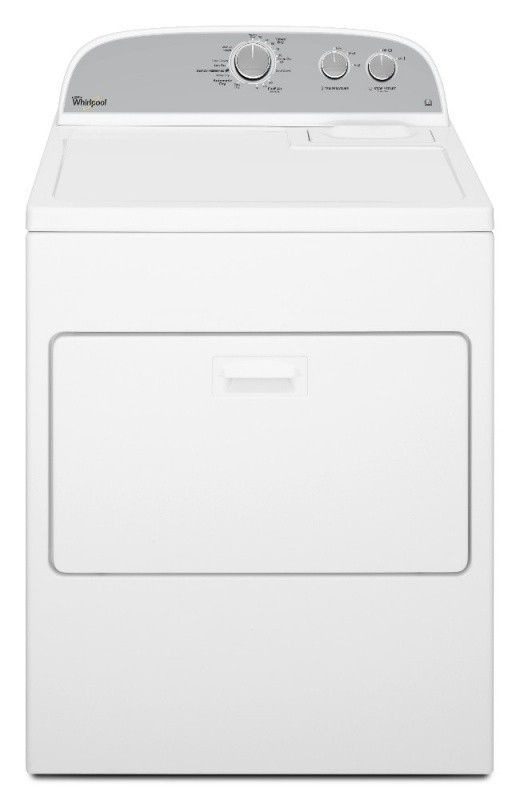 Whirlpool 3LWED4815FW Commercial American Style 6th Sense Front Loading Dryer