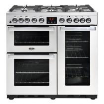 Belling Cookcentre Deluxe 90DFT 90cm Professional Steel Range Cooker