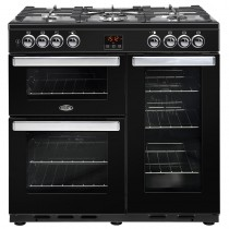 Belling Cookcentre 90DFT 90cm Black Range Cooker