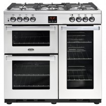 Belling Cookcentre 90DFT 90cm Professional Steel Range Cooker