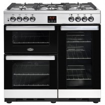 Belling Cookcentre 90DFT 90cm Steel Range Cooker