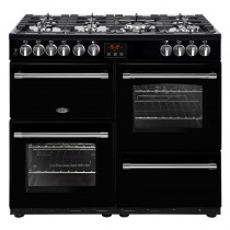 Belling Farmhouse 100DFT Black Range Cooker