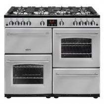Belling Farmhouse 100G Silver Range Cooker