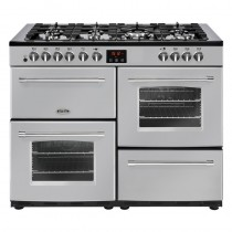 Belling Farmhouse 110DFT Silver Range Cooker
