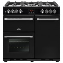 Belling Farmhouse 90DFT 90cm Black Range Cooker