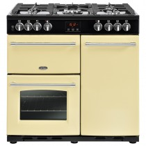 Belling Farmhouse 90DFT 90cm Cream Range Cooker