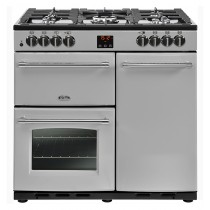 Belling Farmhouse 90DFT 90cm Silver Range Cooker