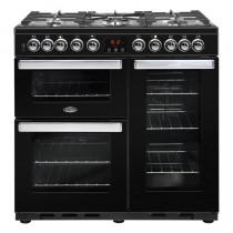 Belling Cookcentre Deluxe 90DFT Black Range Cooker