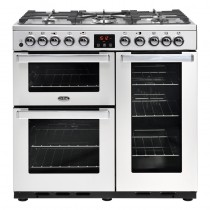 Belling Cookcentre Deluxe 90DFT Professional Steel Range Cooker
