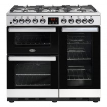 Belling Cookcentre Deluxe 90DFT Steel Range Cooker