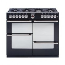 Stoves Sterling S1000DF 100cm Dual Fuel Range Cooker Black