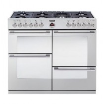 Stoves Sterling S1000DF 100cm Dual Fuel Range Cooker Stainless Steel